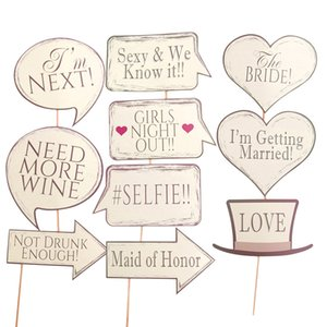 Wedding Photo Booth Props Mr Mrs Hanging Banner Rustic Wedding Decoration Bridal Shower Bachelorette Party Supplies Photobooth Y201020