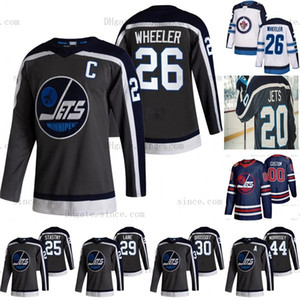 Kadın Mark Scheifele Winnipeg Jets 2021 Ters Retro Patrik Laine Mark Scheifele Dustin Byfuglien Blake Wheeler Hellebuyck Morrissey Jersey