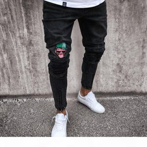 DIAOOAID 2018 Black Jeans Men's Streetwear Hiphop New Zipper Motorcycle Quality Fashion Hot Sale Male Personality Denim Trousers D18102