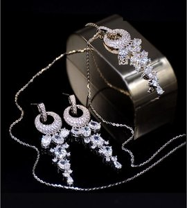 High-end2020 new style The bride's bridesmaids for wedding will use ring rhinestone tassel jewelry set earrings necklace
