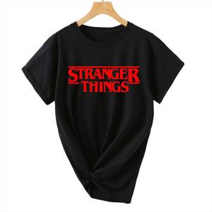 T Shirt Women summer fashinon STRANGER THINGS Ringer Hipster Shirts Tumblr Graphic Womens tshirts Letter Print T Shirt