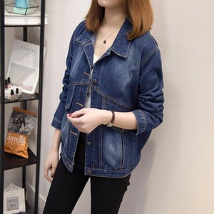 Large Size Women's Autumn Winter Hot sale Loose Style Fashion Casual Popular Women Denim Jacket Lapel Pocket Vintage Coat 5XL
