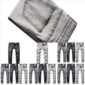 WTF von Gott S Angst Denim PantsRipped Jeans Print Men Green Jeans Mode Jeans Mode Dünne Hosen Reißverschluss Fliegenhose Briefe