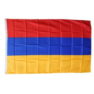 Custom Armenia National Country Flags Wholesales 3'X5' Foot 100D Polyester High Quality With Two Brass Grommets