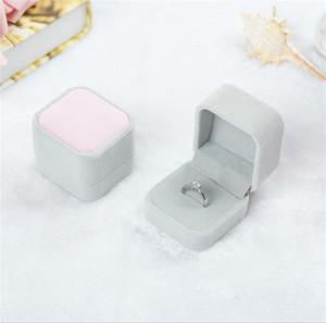 New Fashion 10 Color Square Velvet Box Gadget Red Gadget Box Collana Anello Orecchini Box PPD3339