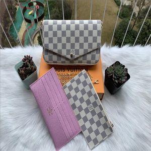 LvLOUISVittonSacs à main les plus récents sacs à main sacs fantaisie Sacs à bandoulière de haute qualité Sacs combinés en trois pièces21 * 11 * 2cm