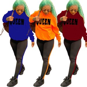 Womens sportswear long sleeve 2 Piece Set Outfits sexy Tracksuit Jogging Sports Suits hoodie leggings outfits night wear very hot klw5654