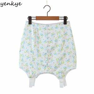 Yenkye Sweet кружевной отделку Цветочный принт Женщины высокой талии Bodycon Mini Sexy юбка мода леди сатин шифон летом Jupe Femme Q1229