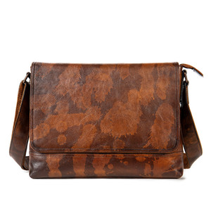 Man Briefcases Genuine Shoulder Bags Leather Business New Mens Travel Crossbody Male Laptop