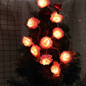 1.5m 10 LED String Rose Flower Fairy Lights for Home Garden Decor Wedding Christmas Party Supplies Flower Rose LED String Lights