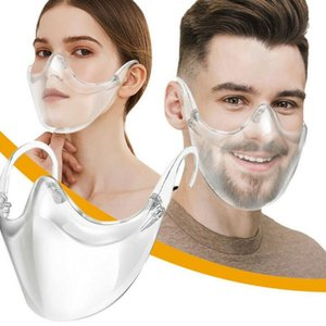 Fast Delivery Masque Durable Cycling Mask Face Shield Combine Plastic Reusable Clear Face Mask Bandage GWF3231