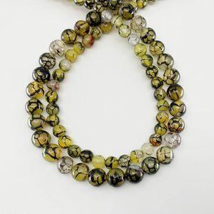 1 strang 6 8 10 mm naturstein gelb gelb drache vene agat perlen runde lose spacer perlen für schmuck findings h jllzka