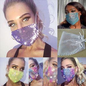 RQA9 Mesh Holloween Rhinestone для модных женщин флэш-маска старший