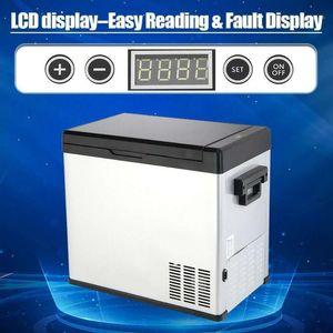 40L Portátil Veículo Refrigerador Turck RV Barco Refrigerador Mini Fridge Freezer para Viagem Home Use 12V 24V 220V Car Compressor1