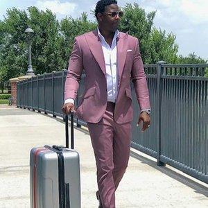 Maßgeschneiderte maßgeschneiderte heiße rosa Männer Anzüge Bräutigam Bester Mann Blazer Business-Hochzeits-Party-Anzüge (Jacke + Hosen)