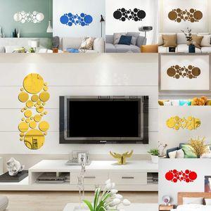 Büyük Küçük Yuvarlak Duvar Çıkartmaları 3D Ayna Akrilik Fayans Sticker Sundurma Koridor Oturma Odası Süs Çıkartması Yatak Odası Moda 4 6 Hy G2