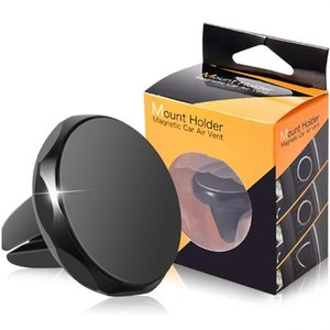 Mini magnetic Car Mount Air Vent Stand Holder Sticker Strong Magnetism Mobile Phone Holder For smartphone samsung GPS