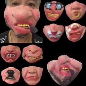 Masquerade Maske Yarım Yüz Maskesi Eğlenceli Cadılar Bayramı Partisi Maskesi Fantezi Top Maskeleri Performans Sahne Şenlikli Dekorasyon Yanlış Yüz OWB3198
