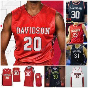 Davidson Wildcats Basketball Jersey NCAA College Curry Kellan Grady Jon Axel Gudmundsson Luka Brajkovic Carter Collins Luke Frampton