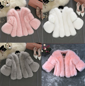 여성 패션 3XL 4XL 가짜 모피 두꺼운 양털 1 조각 겉옷 플러스 사이즈 재킷 긴 소매 카디건 코트 가을 겨울 캐주얼 의류 4366