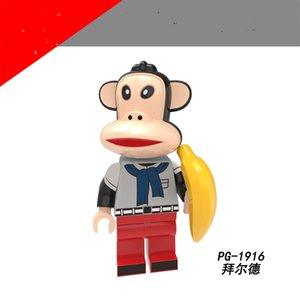 Serie anime originali Big Bocca Assemblata Minifigure Monkey Block Bag Azione Figure Giocattoli per bambini Adulto