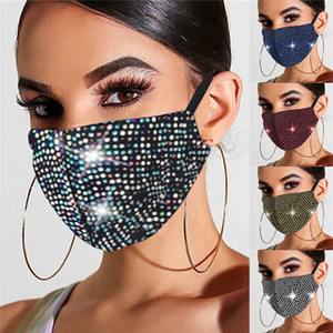 Rhinestone Masquerade Masks Washable Bling Face Mask for Women Adult Girls Sparkly Decorative Party Masks Christmas Fashion Design