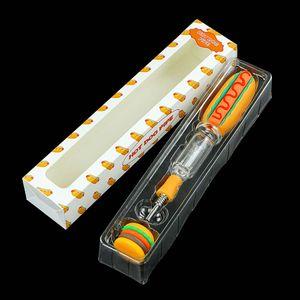 New Hot dog kit smoking kits smoking pipes hand pipe quartz tip nail oil pipes container 5ml jar smoking