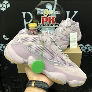 Soft Vision 500 Stone Bone White Running Shoes Mens Womens Super Moon Yellow Utility Black Blush Salt Kanye West stylist Sports Sneakers