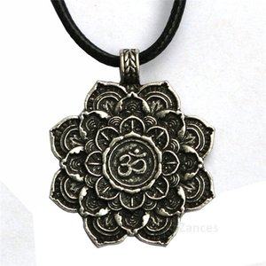Meditation Art Tibet Spiritual Necklace Tibet Mandala pendant Necklace Geometry Amulet Religious jewelry Buddhist hot sale