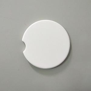 Blanks Car tazza sottobicchieri Pietra in ceramica Assorbente Pietra in ceramica per una facile rimozione di Auto Blashholder Coaster