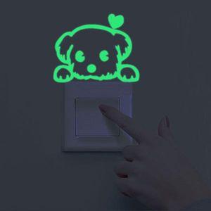 Luminous Cartoon Switch Stickers Night Owl Luminous Stickers Fluorescent Moon Stars Stickers Children's Room Decoration Home Decoration