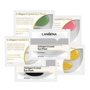 Factory price! 10,000packs LANBENA 24K Gold Eye Mask Collagen Eye Patches Anti Dark Circle Puffiness Eye Bag Moisturizing Skin Care