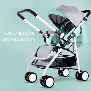 2020 Baby Stroller Lightweight Foldable Baby Stroller Sit Lying Umbrella Car BB Trolley Pushchairs Newborn Infant