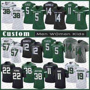 14 Sam Darnold New YorkJet Özel Erkek Bayan Çocuk Futbol Jersey 38 Lamar Jackson 5 Joe Flacco 22 La'Mical Perine 19 Breshad Perriman