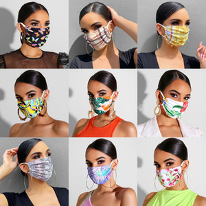 Adult Luxury Reusable Maskes for Women Girls Washable Printing Adjustable Cotton Maskes Dustproof Cotton Mouth Cloth Maskes With Filters