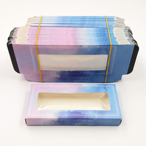 Rectangle Case Cosmetic Containers Without Tray Eyelash Packing Box Stripe Line Decorative Colour Boxes Packaging Decoratation 1 2ye C2