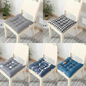 40 * 40 cm cuscino sedile sulla sedia cuscino del pavimento in cotone ufficio sedile sedentario cuscino sedile sedentario sgabello inverno pastiglie morbido culo divano home decor dhf3497