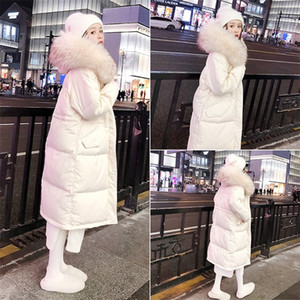 Bella Philosophy Women Down Parkas Winter Warm Casual Down Coats Female White Duck Down Coats Lady Fur Collar Outerwears 201214