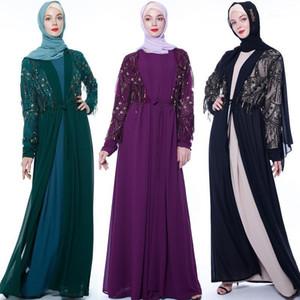 Chiffon Dubai Abaya Kimono Islam Muslim Hijab Dress Abayas For Women Kaftan Caftan Marocain Turkish Islamic Clothing Robe Coat1