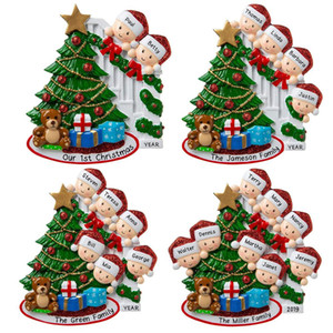 Hot new Family Christmas Tree Hanging Pendant PVC Snowman Car Pendant Christmas Ornaments DIY Name Blessing Festival Decoration