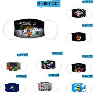 37 estilos entre nosotros Juego de EE. UU. Anti-Haze Boot Mask Children Reutilizable Lavable Protección a prueba de polvo Unisex Adultos Partido Máscara FY9301 FVSJA
