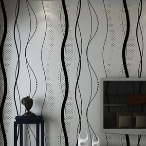 3D Non-woven Curve Stripe Wallpaper Roll Home Decor Living Room Bedroom Wall Coverings Silver Floral Luxury Wall Paper