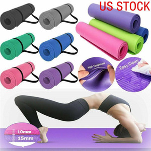ABD Stok 183 * 61 * 1 cm Kalınlığı Kaymaz Yoga Mat Spor Pad Spor Yumuşak Pilates Paspaslar Vücut Geliştirme Eğitim Egzersizleri için Katlanabilir Pedleri FY6019