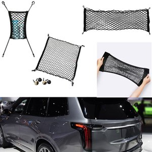 For Cadillac XT6 2019-2021 Car Auto vehicle Black Rear Trunk Cargo Baggage Organizer Storage Nylon Plain Vertical Seat Net