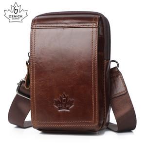 ZZNICK Fanny en cuir véritable ceinture d'hommes Packs portable Sacs Pack Voyage Homme Petit sac de taille 201118