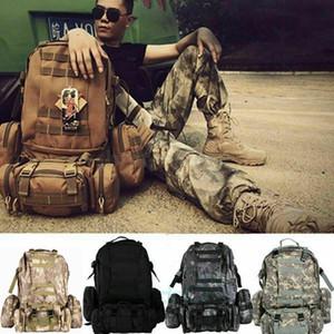 US 55L MOLLE Открытый военный Тактический мешок Кемпинг Пешие прогулки Trekking рюкзак