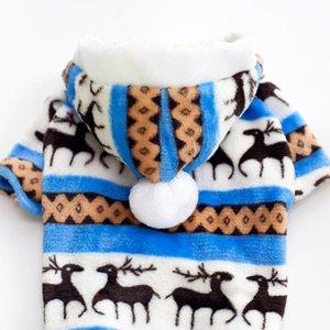 100% Cotton Print Pet Dog Warm Clothes Puppy Jumpsuit Hoodie Coat Doggy Apparel Keep Warm Dog Clothes Pet Clothes