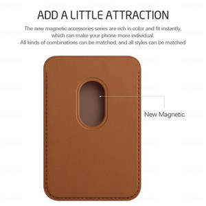 2020 new Leather magsafe Wallet Credit Card Cash Pocket Holder Pouch For iPhone 12 mini pro max