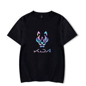 Kda la camiseta de alta calidad del verano más malo 100% de tee de algodón impreso genial juego o-cuello mujeres hombres manga corta casual