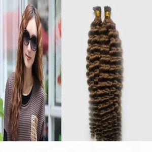 Brazilian I Dica Pré-ligado Curly Human Human Extensions Cabeça Completa Conjuntos 100% Humanos Cabelo Natural Brasileiro Remy Hair